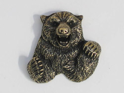 Antique Brass Bear Pin The Woodbadge Store